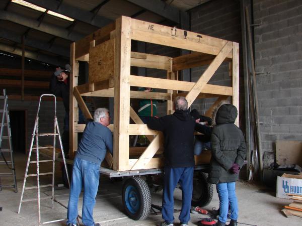 Premier RV de chantier pour notre char