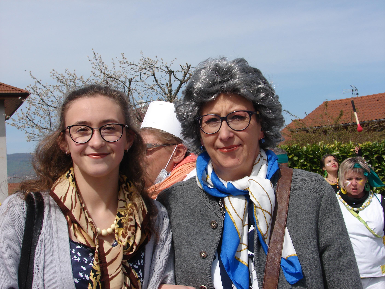 Les pensionnaires en sortie ... Melissa et Béa
