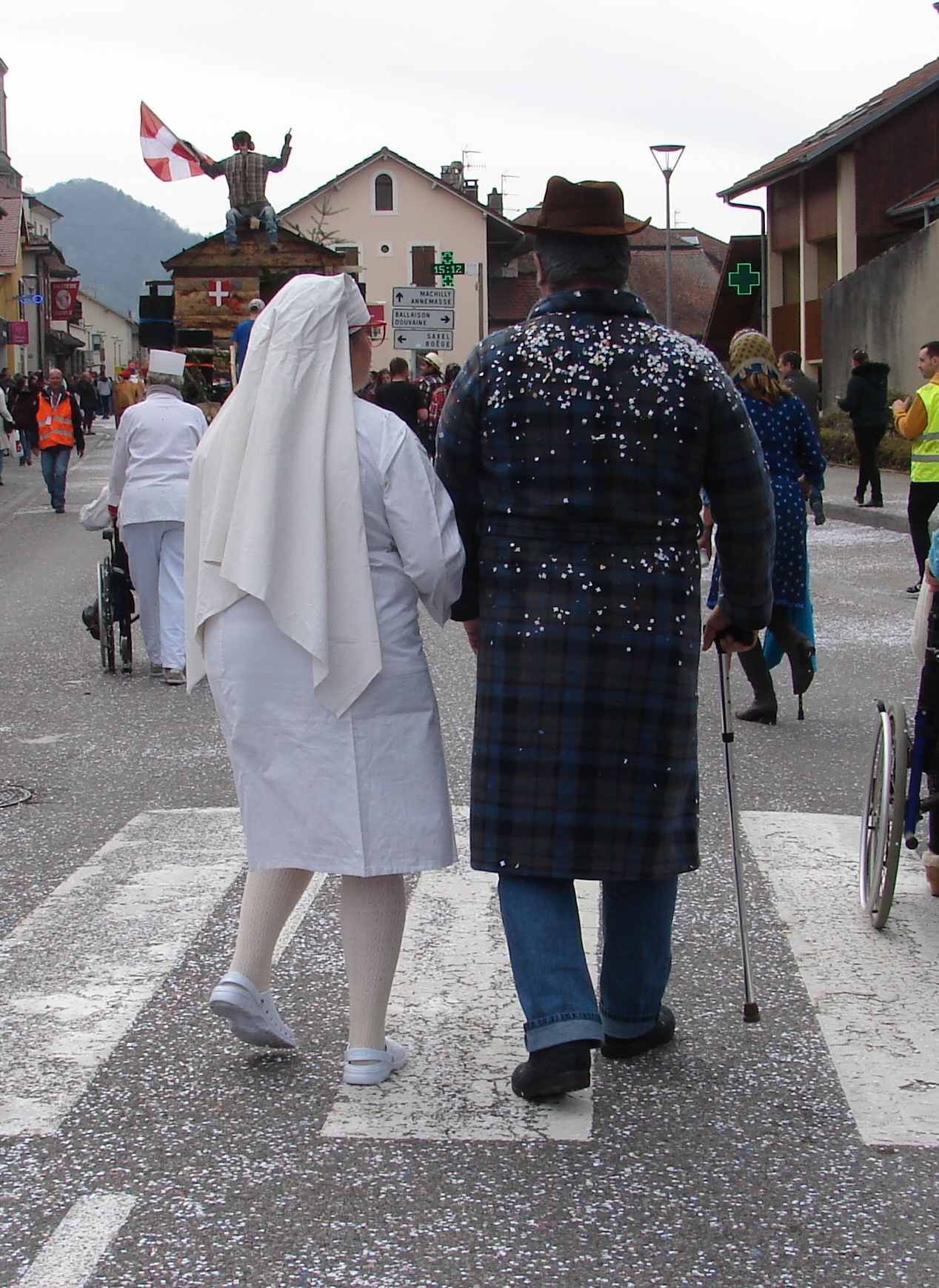 Barbara et Fabien en promenade