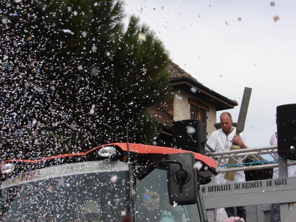 Nos lanceurs de confettis en pleine action