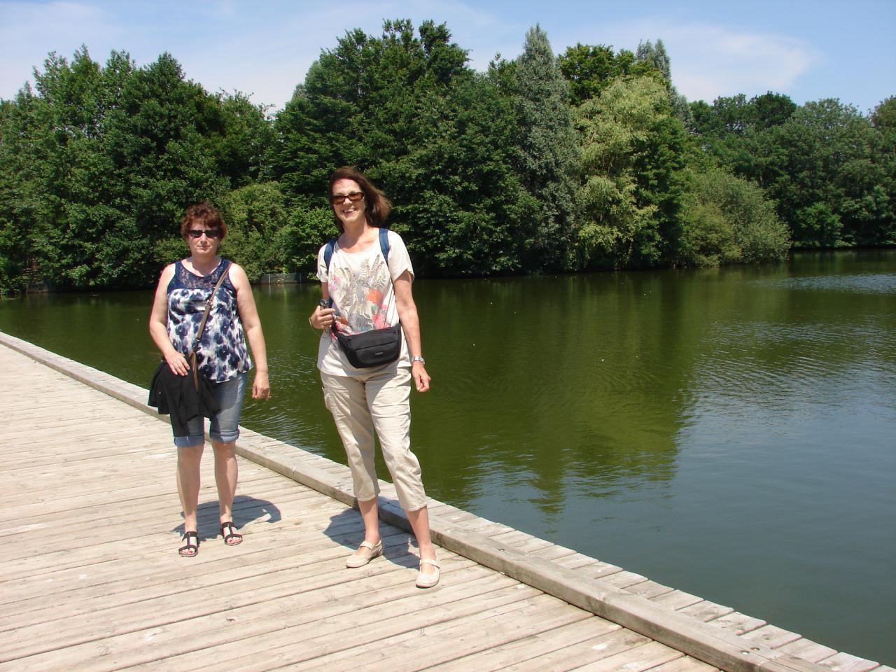Marie Christine et Mary Claude en visite