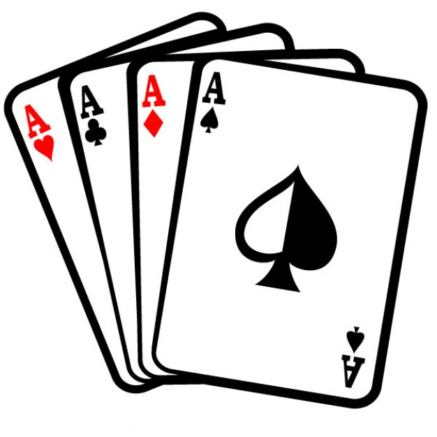 Quatre aces cartes poker clip art 91 2147487613